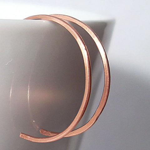 Small Copper Hoop Earrings