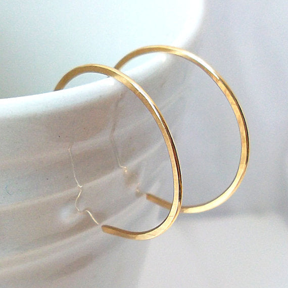 Small Gold Fill Hoop Earrings - Eluna Jewelry