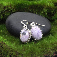 Purple Sugalite Gemstone Earrings - Eluna Jewelry