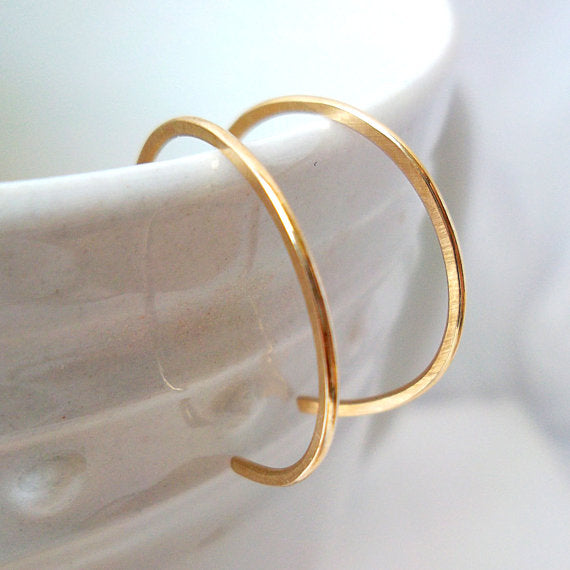 Tiny Gold Fill Hoop Earrings