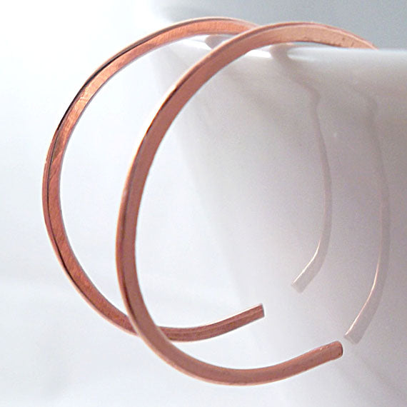 Tiny Copper Hoop Earrings - Eluna Jewelry