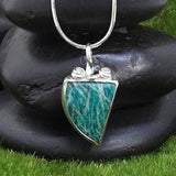 Spiritual Amazonite Pendant Necklace for Harmony