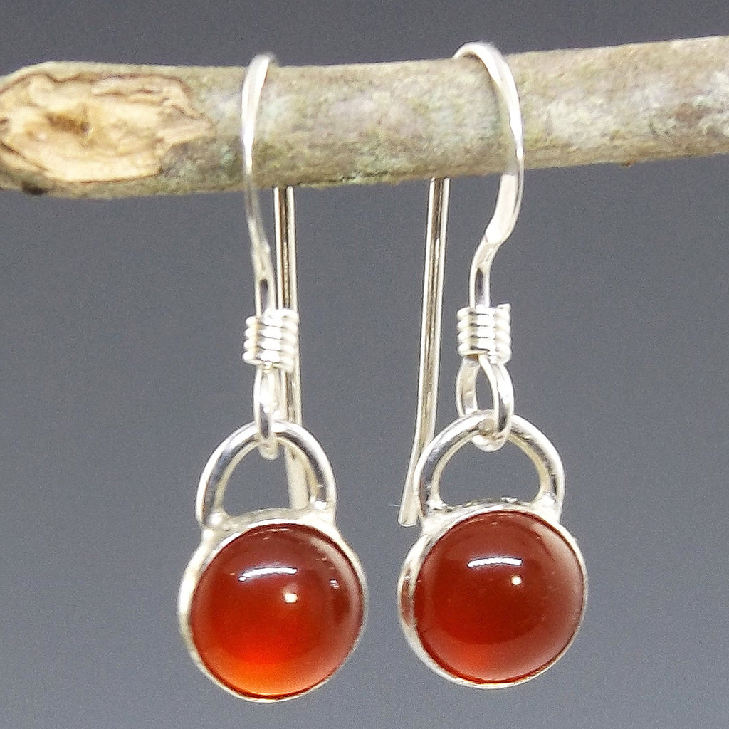 Handmade Carnelian Earrings for Success - Eluna Jewelry