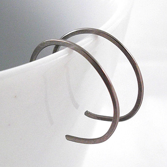 Tiny Niobium Hoop Earrings