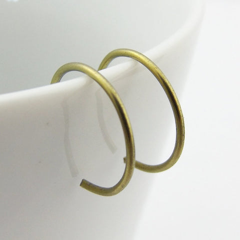 Yellow Niobium Hoop Earrings