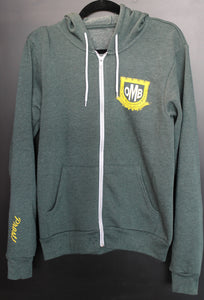 Green OMB Fleece Full-Zip Hoodie