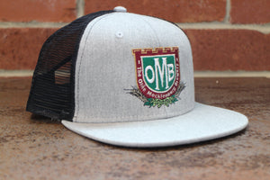 Grey OMB Logo Hat