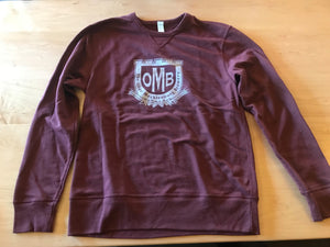 Men's Maroon Crewneck Sweatshirt