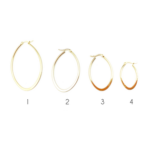 Oval Gold Hoops Earrings - LoobanysJewelry