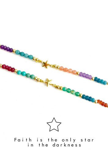 Star Colorful Meaning Adjustable thread bracelet