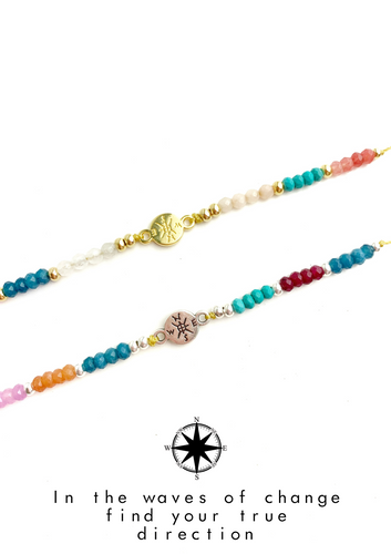 Compass Colorful Meaning Adjustable thread bracelet