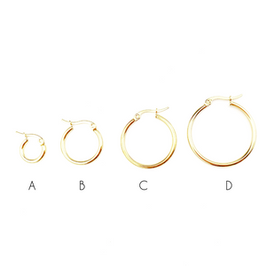 Regular Gold & Silver Hoops Earrings - LoobanysJewelry