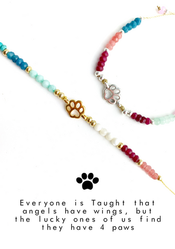 Dow Paw Colorful Meaning Adjustable thread bracelet