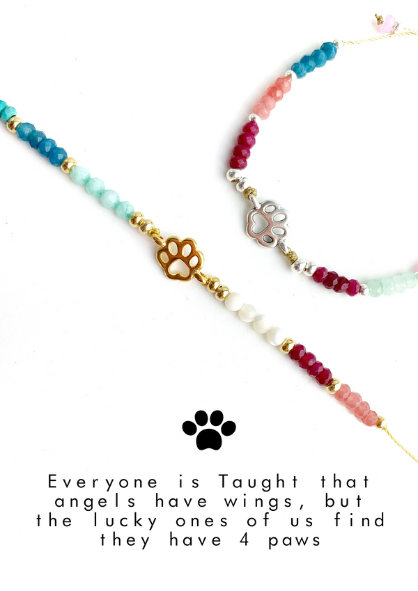 Dow Paw Colorful Meaning Adjustable thread bracelet - LoobanysJewelry