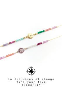 Big Compass Colorful Meaning Adjustable thread bracelet - LoobanysJewelry