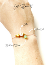 One Thread Letter and Month Bracelet - LoobanysJewelry