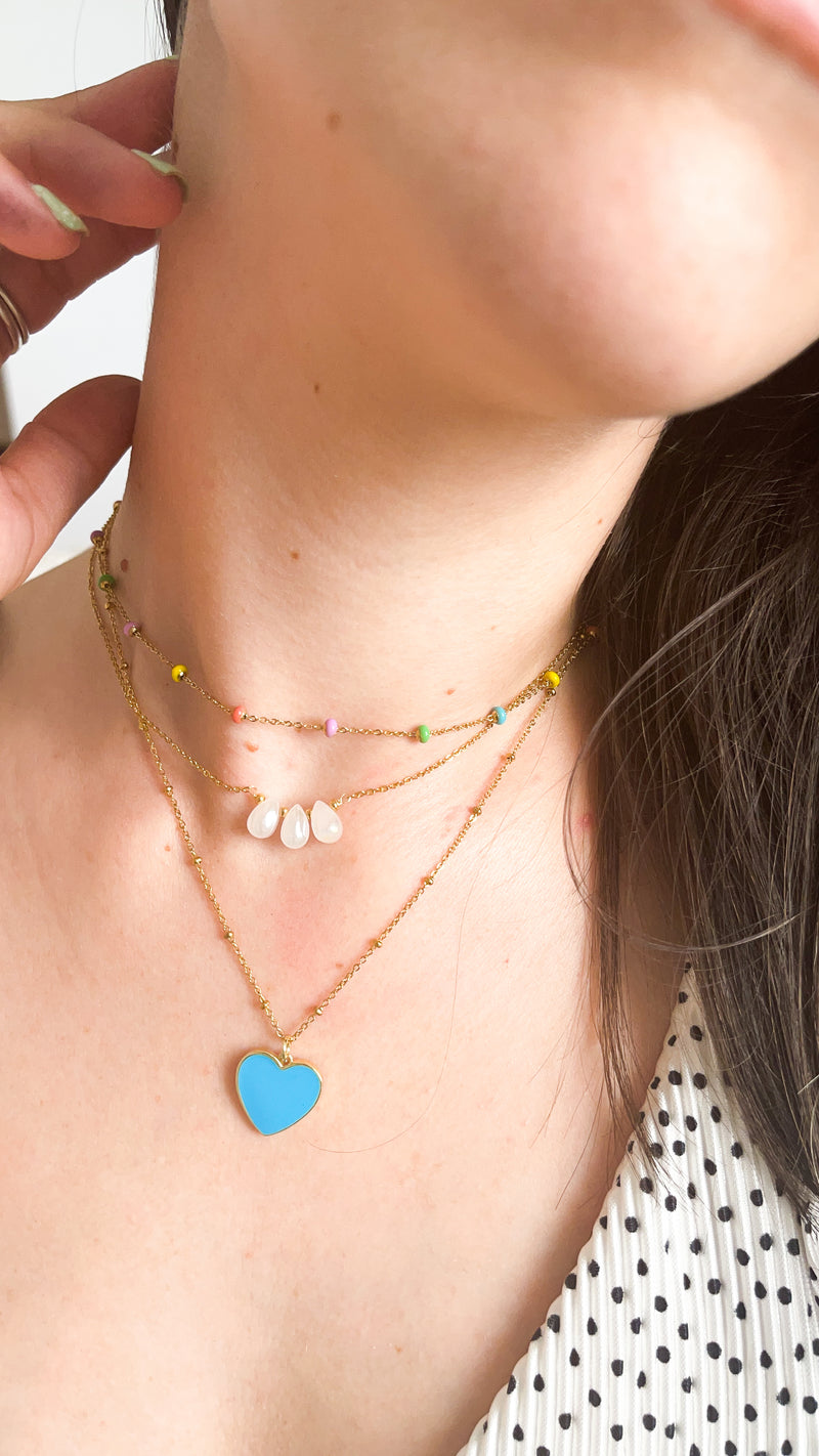 Color Bold Dot Necklace - LoobanysJewelry