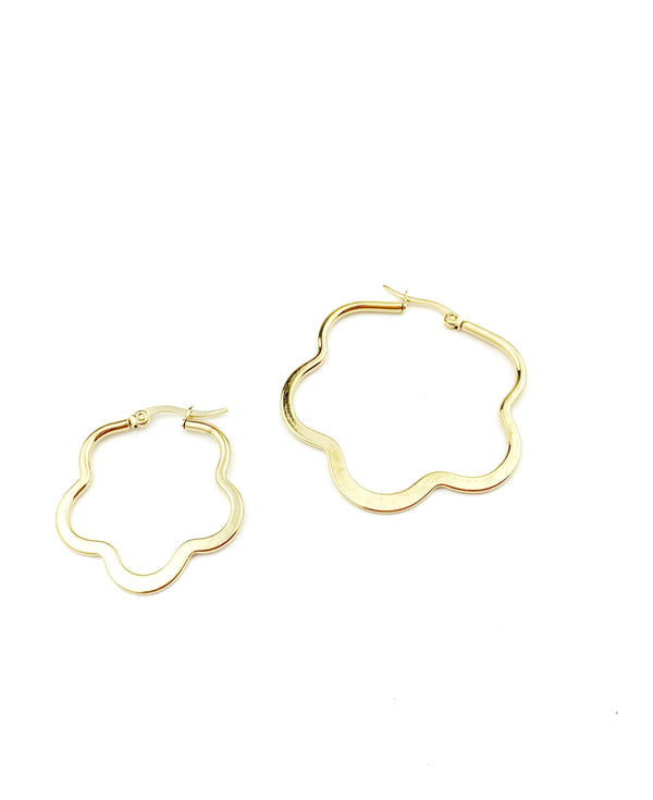 Flower Hoops Earrings - LoobanysJewelry