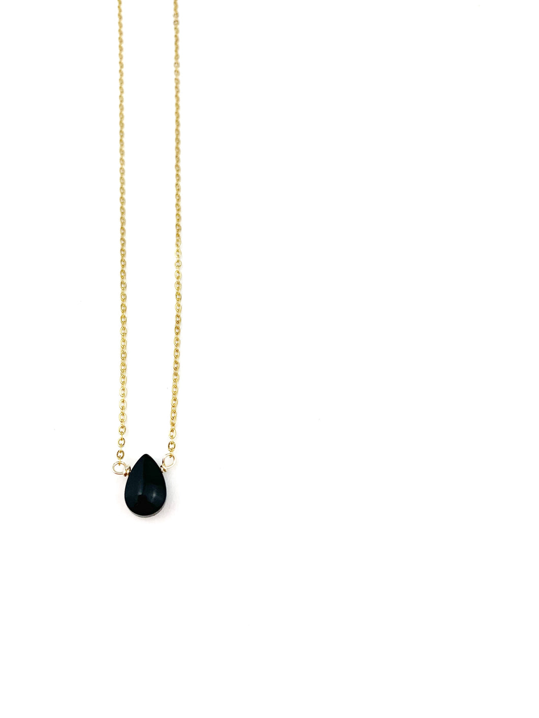 Black Drop STONES necklace