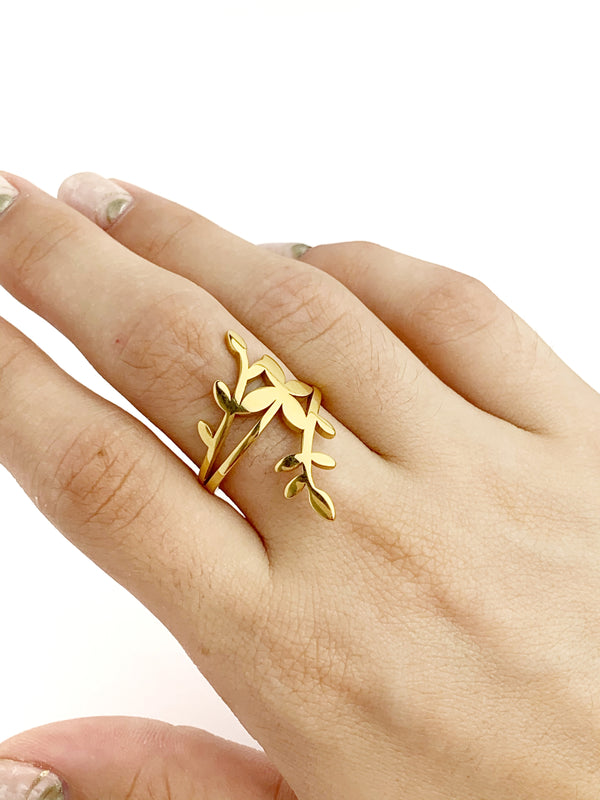 Big Leaf Ring - LoobanysJewelry