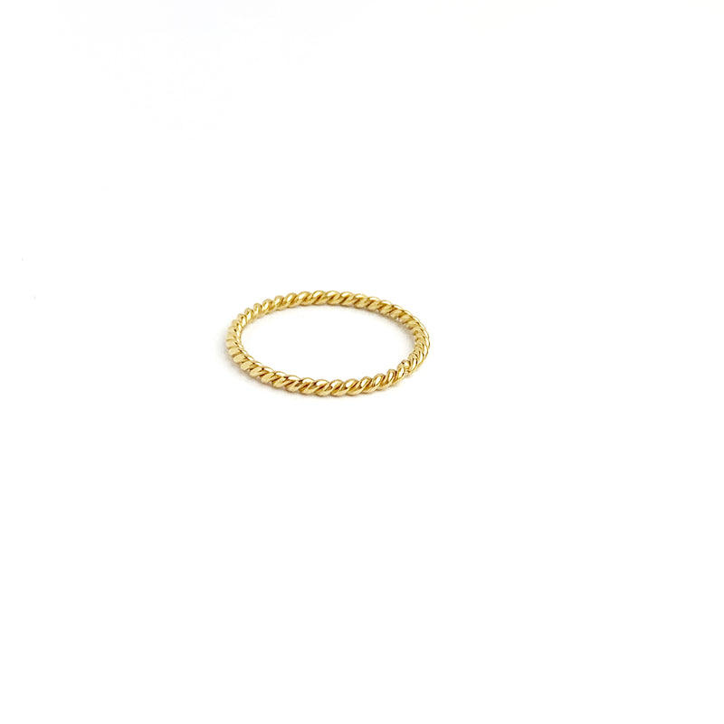 Regular SS Torcido Simple Ring - LoobanysJewelry
