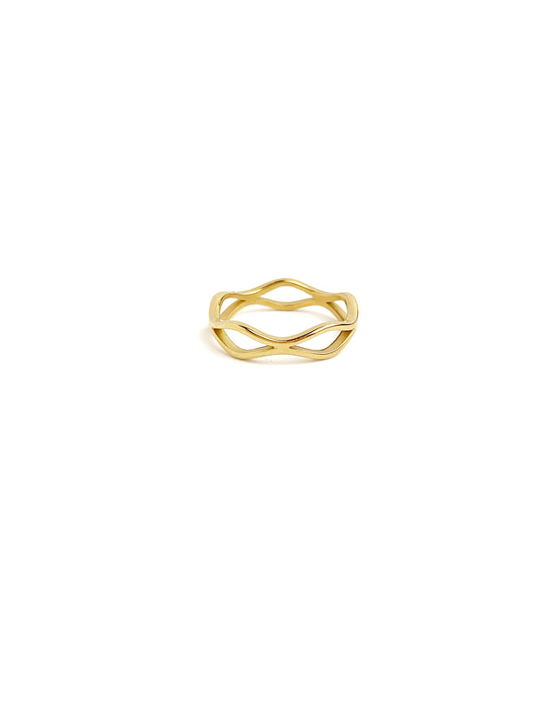Simple waving Ring - LoobanysJewelry