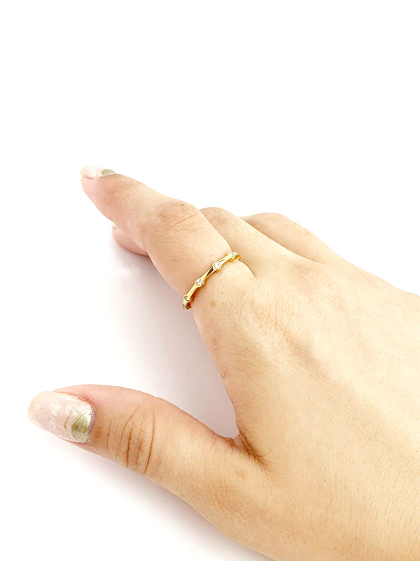 Diamond Dot Ring - LoobanysJewelry