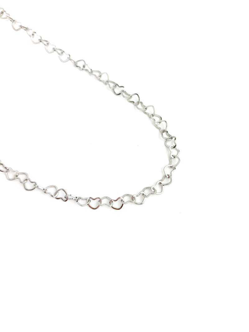 Open Heart Adjustable Choker and Chain - LoobanysJewelry