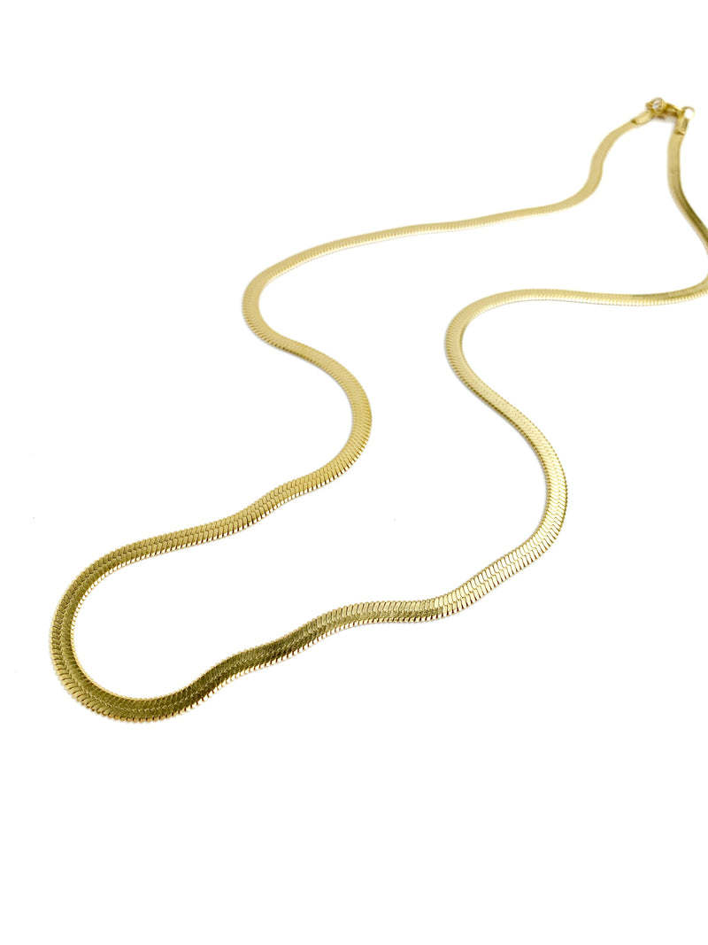 Medium Flat Snake Necklace - LoobanysJewelry