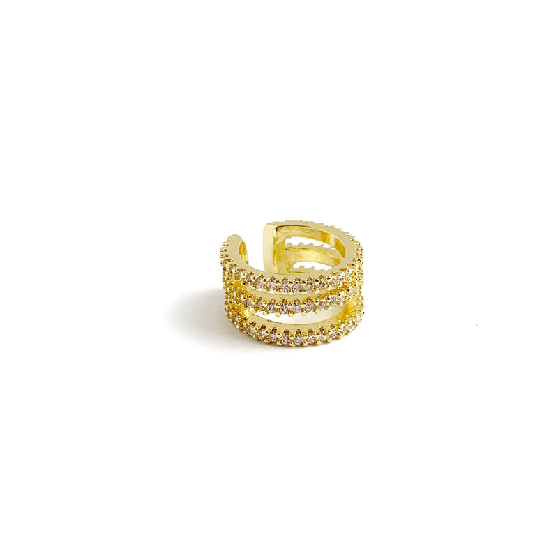 Three Line Diamonds Cuff - LoobanysJewelry