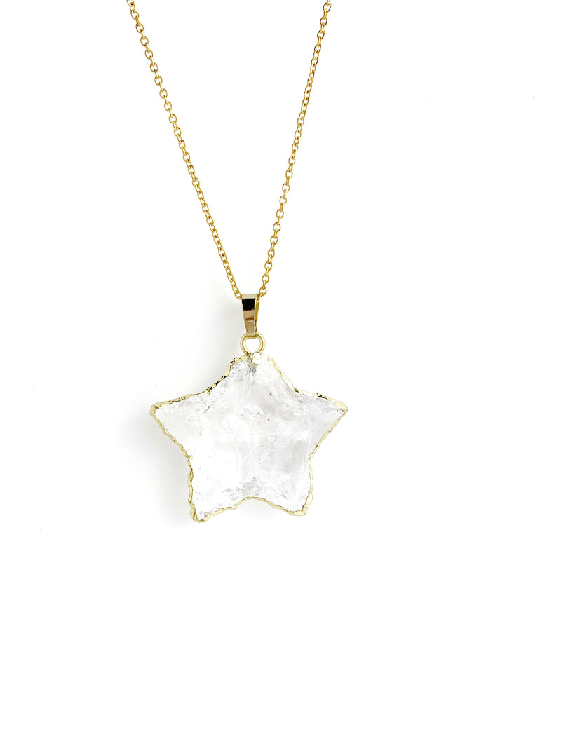Crystal Long Star Necklace - LoobanysJewelry