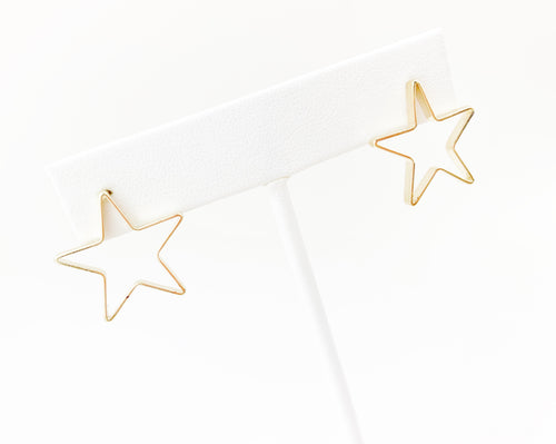 Open medium star stud