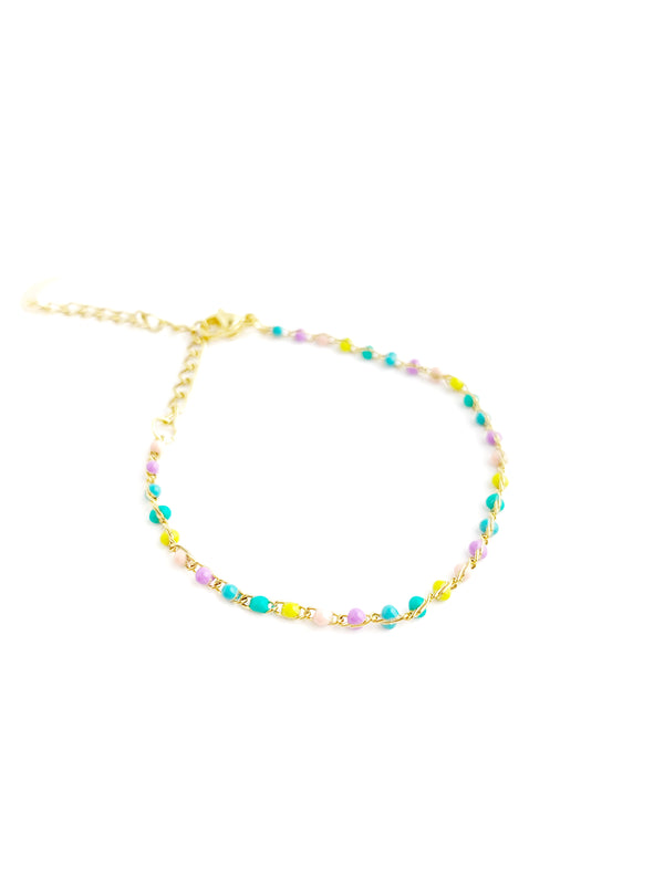 Color Dot Chain Bracelets - LoobanysJewelry