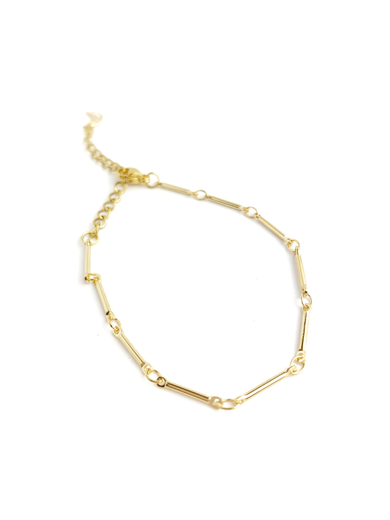 Thin Bar Chain Bracelet - LoobanysJewelry