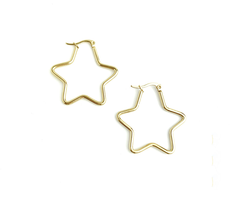 Medium star Hoops