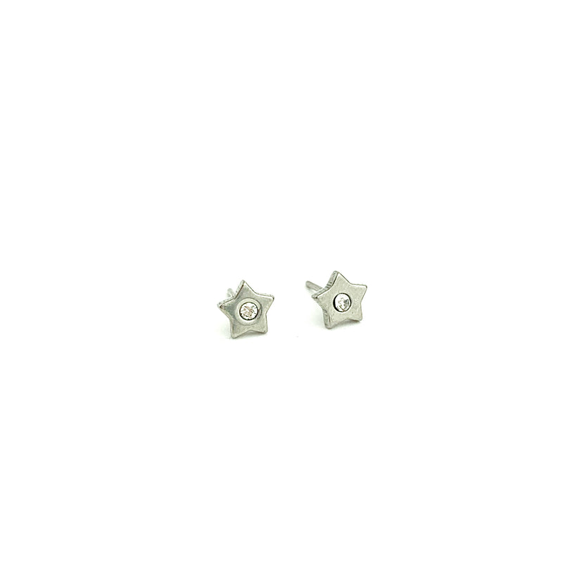 One Diamond Star Earring Stud