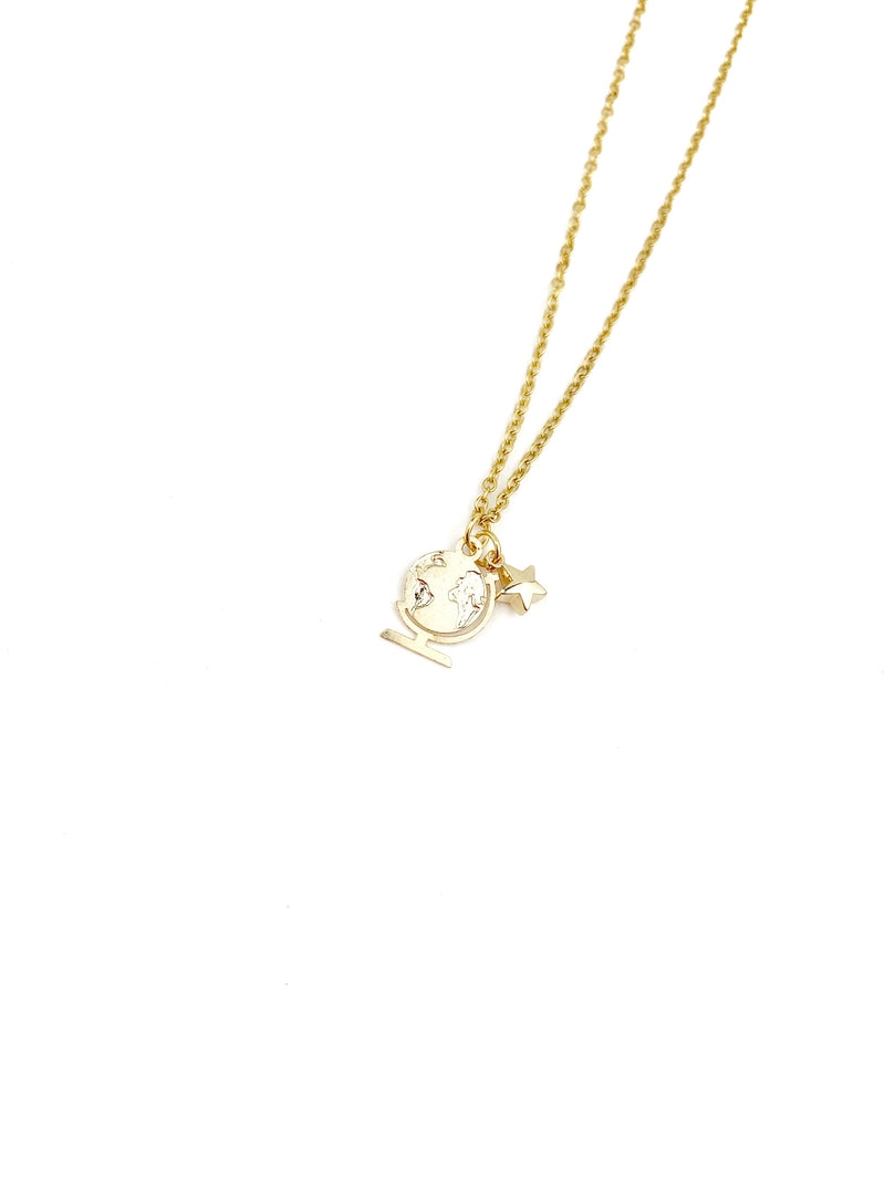 Francia Gold World Necklace - LoobanysJewelry