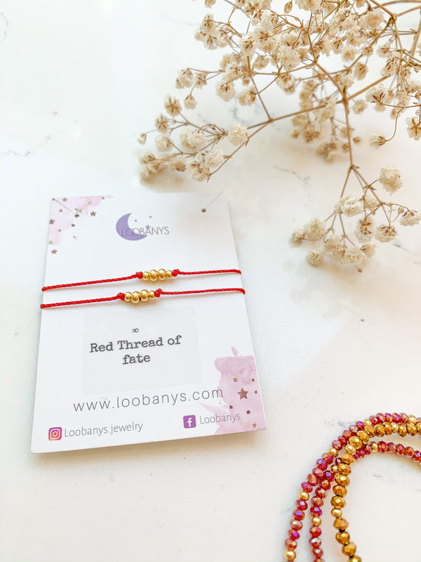 Red Thread of Fate Bracelet (set of 2) - LoobanysJewelry
