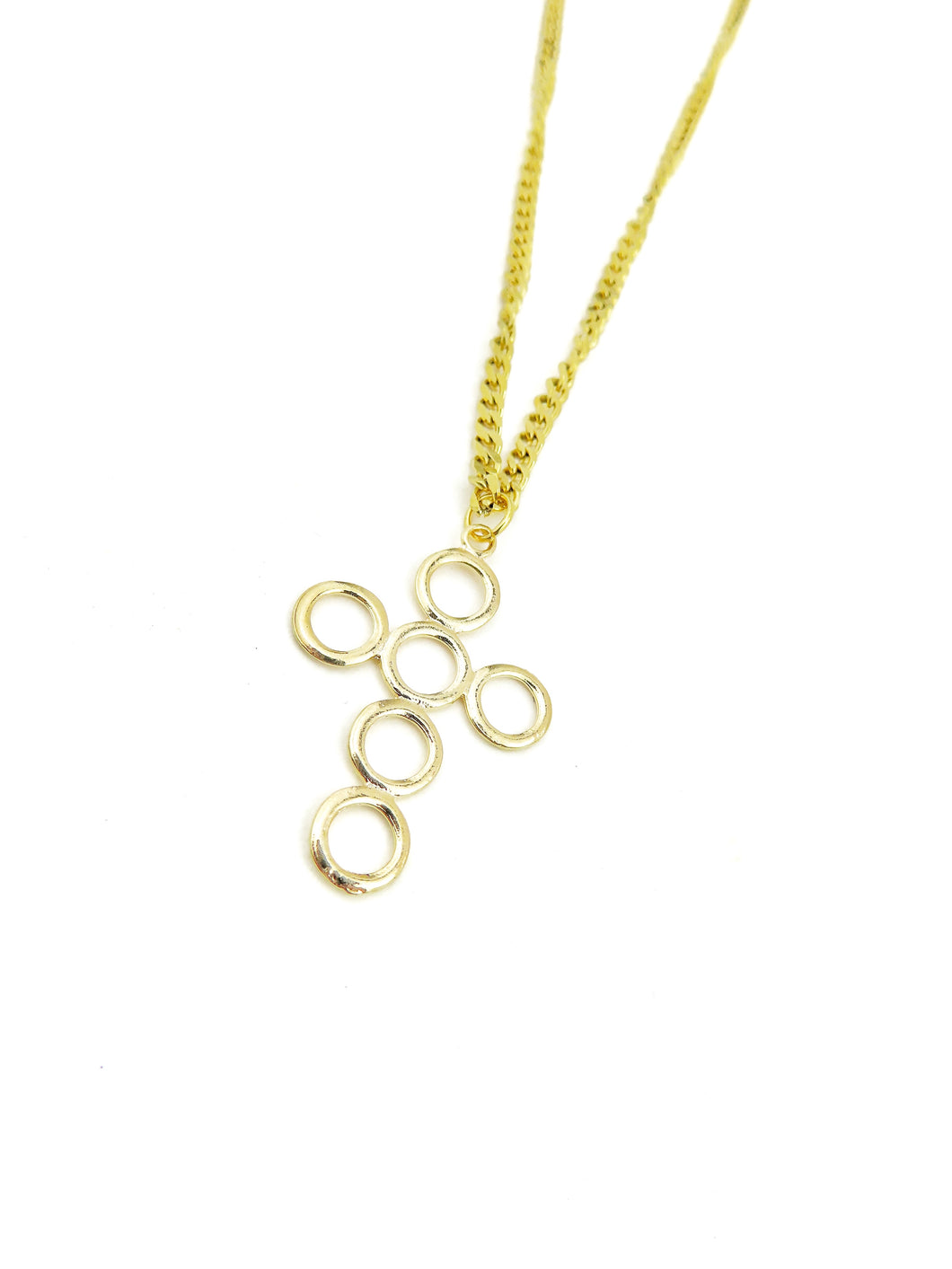 GP Circle Cross with Cubana Chain Necklace