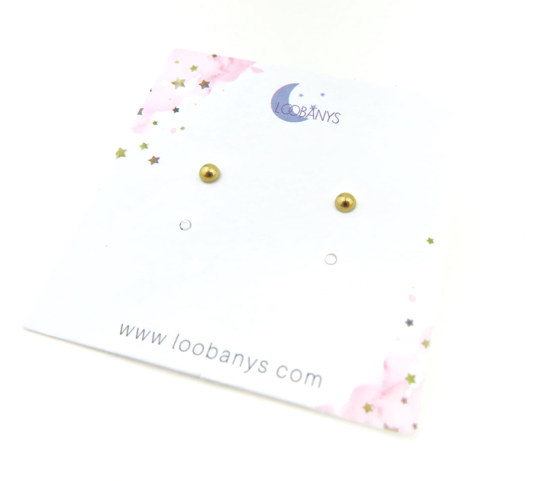 Tiny Golden Earring Studs - LoobanysJewelry