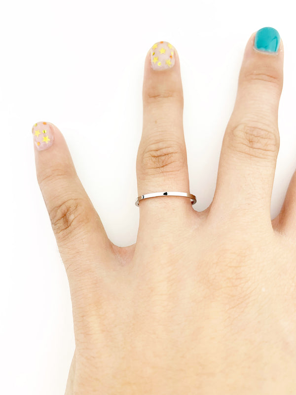 Plain Stainless Steel Ring - LoobanysJewelry