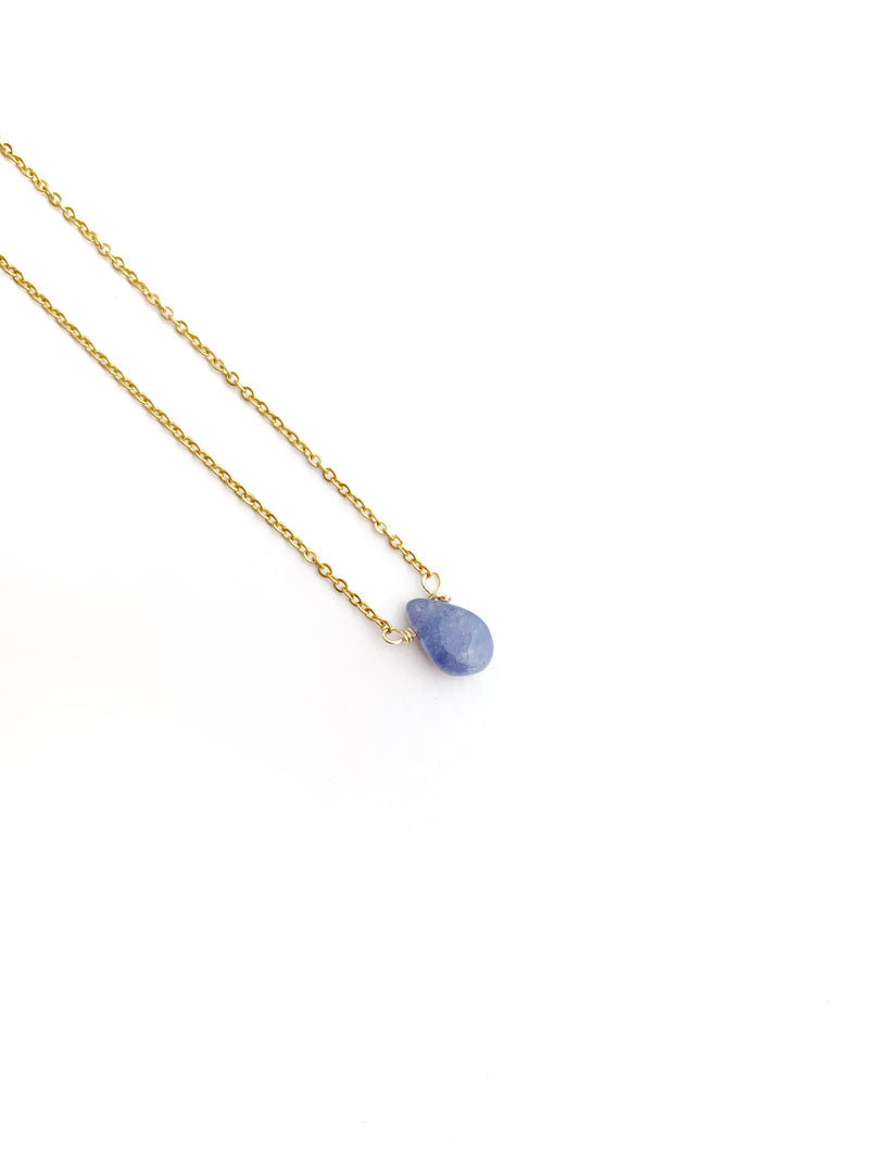 Blue Agata Drop Necklace - LoobanysJewelry