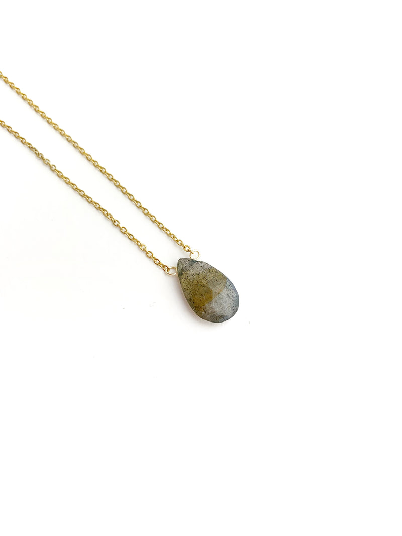 Labradorite Drop Necklace - LoobanysJewelry