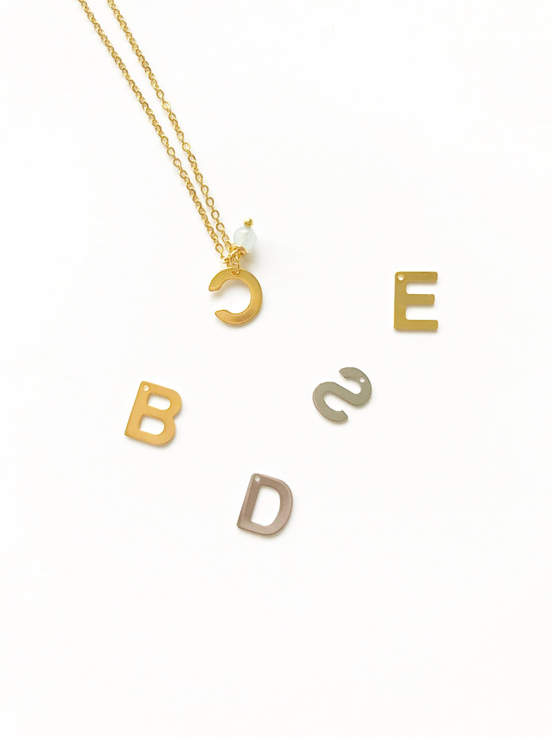 Flat Letters Necklace - LoobanysJewelry