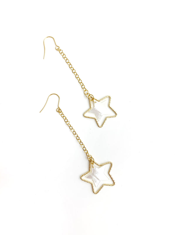 Long Dangling Star Earrings - LoobanysJewelry