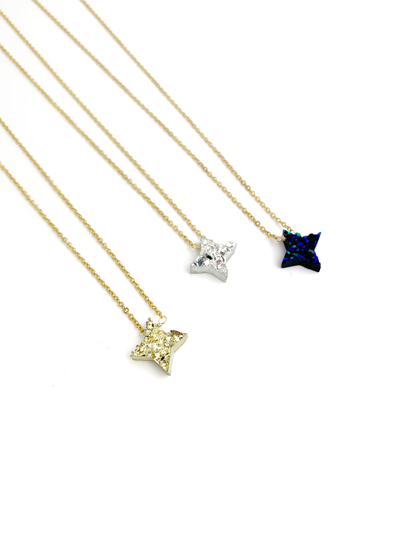 Druzzy Light Star Necklace - LoobanysJewelry