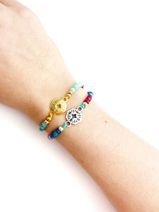 Big Compass Camera Colorful Meaning Adjustable thread bracelet