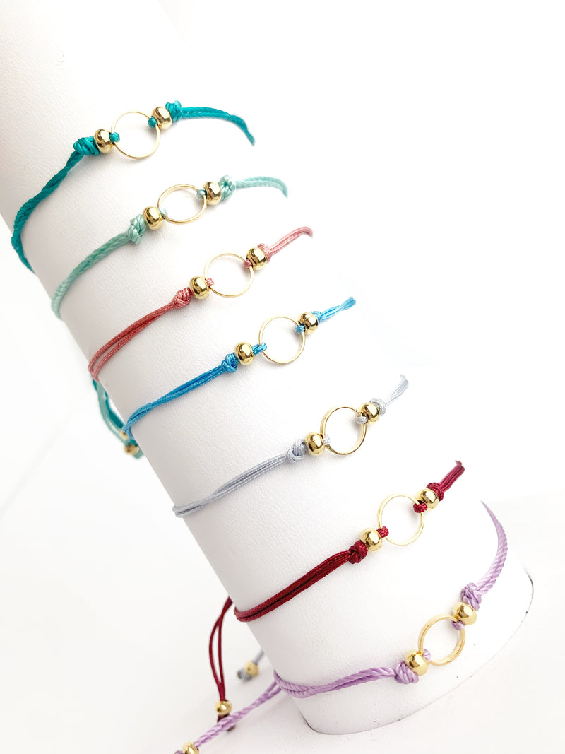 Circle Thread Adjustable Bracelet - LoobanysJewelry
