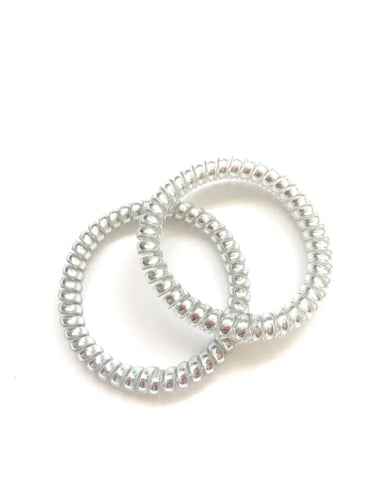 No damage Silver Hair Ties