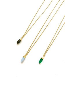 Tiny Quartz Bullet Necklaces - LoobanysJewelry